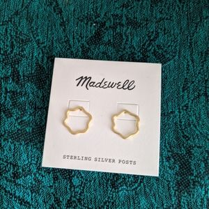 Madewell Flower Outline Wobbly Circle Earrings